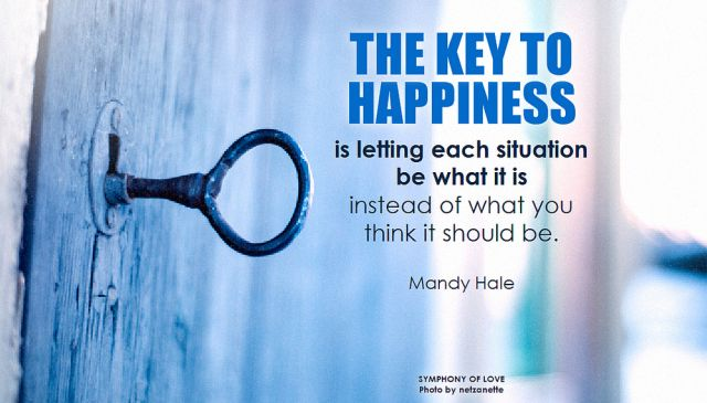 key to happiness - detachment