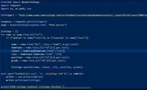 python beautifulsoup scraping code