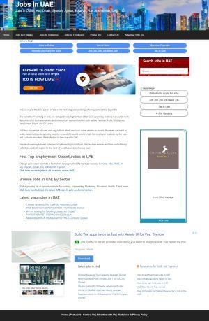 getuaejobs wordpress based jobs website