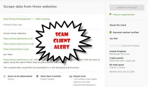 how to avoid scam clients on upwork